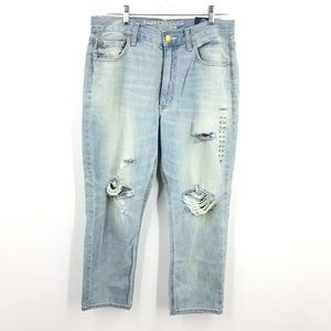 American Eagle Outfitters High Rise Distressed 12